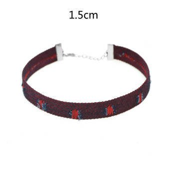 Choker mini bordowy