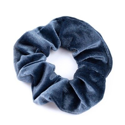 GUMKA DO WŁOSÓW scrunchie AKSAMITKA welur BLUE