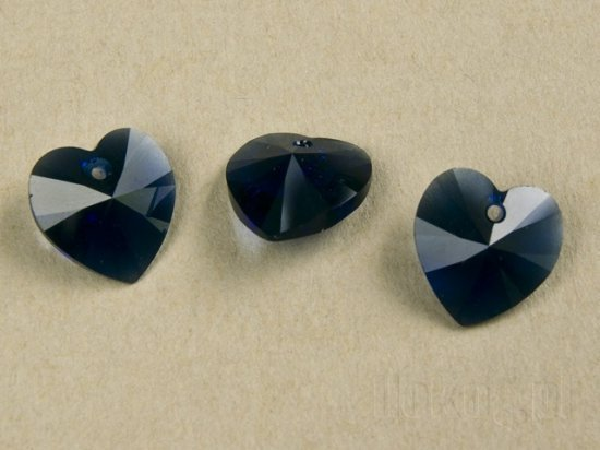 SWAROVSKI DARK INDIGO 6228 6202 14 mm HEART