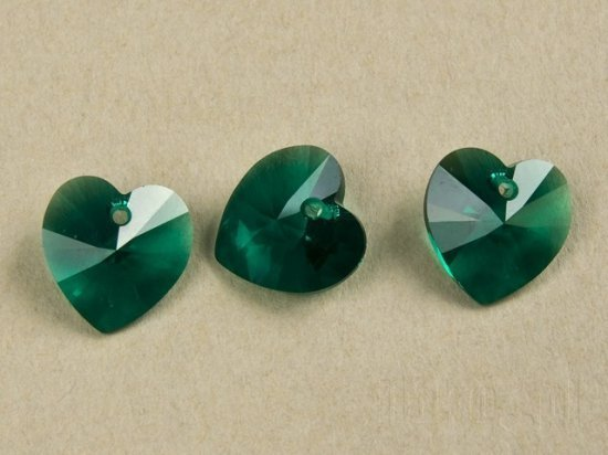 SWAROVSKI koraliki EMERALD 6228 6202 14 mm HEART