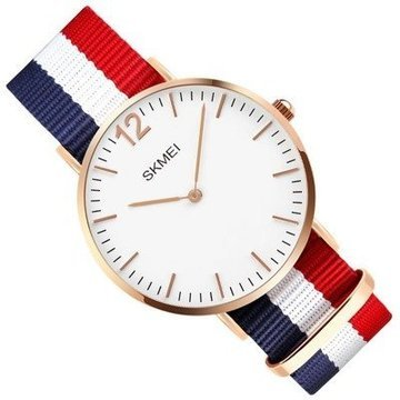 Zegarek męski SKMEI 1181 NYLON blue/white/red